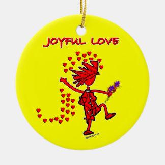 Joyful Love Forever Ceramic Ornament
