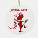 Joyful Love Forever Christmas Tree Ornament