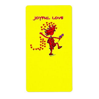 Joyful Love Forever Shipping Label