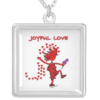 Joyful Love Forever Square Pendant Necklace