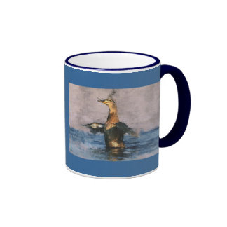 Joyful Mallard Duck Ringer Mug