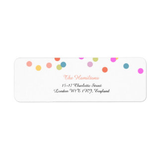 Joyful   Modern Confetti Return Address Labels