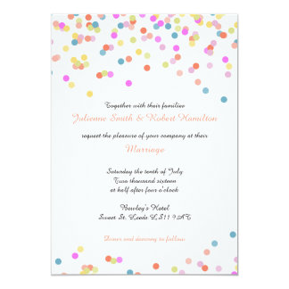 Joyful | Modern Confetti Wedding Invitations