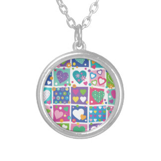 Joyful multi color hearts fun girly trendy lovely personalized necklace