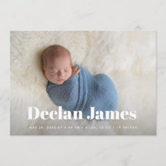 Joyful News | Photo Collage Birth Announcement