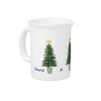 Joyful Note Music Decorations Christmas Trees Beverage Pitcher
