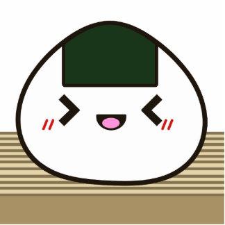 Joyful Onigiri Rice Ball Photo Cutout