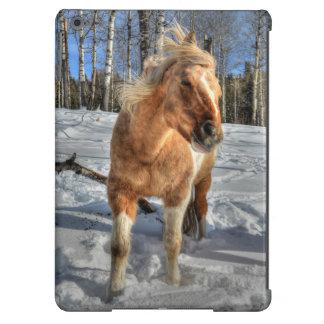 Joyful Palomino Pinto Horse and Snow iPad Air Cases