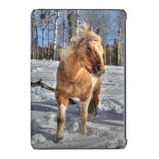 Joyful Palomino Pinto Horse and Snow iPad Mini Cases