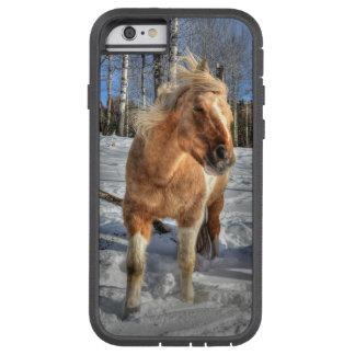 Joyful Palomino Pinto Horse and Snow Tough Xtreme iPhone 6 Case