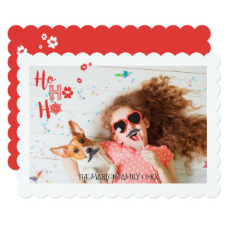 Joyful Paws Holiday Pet Photo Card