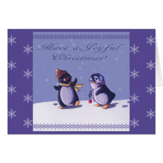 Joyful Penguins Christmas Card