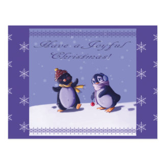 Joyful Penguins postcard