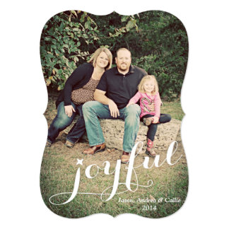 Joyful Photo Holiday Card Custom Invitations