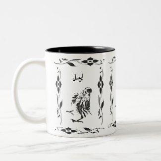 Joyful Pine Siskin mug