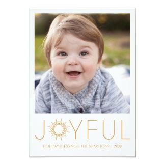 Joyful Prism Holiday Photo Card