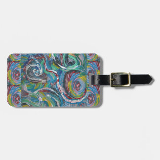 JOYFUL RIDE: Artistic Energy Waves LOWPRICE STORE Luggage Tag