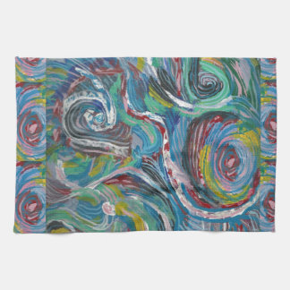 JOYFUL RIDE: Artistic Energy Waves LOWPRICE STORE Towel
