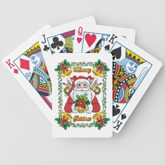 Joyful Santa Bicycle Card Deck