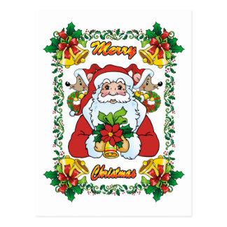 Joyful Santa Postcard