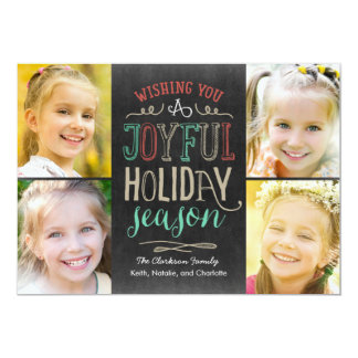 Joyful Season Holiday Photo Card