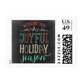 Joyful Season Holiday Postage Stamp