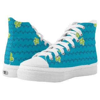 Joyful Spring - Blue, Aqua and Green Printed Shoes