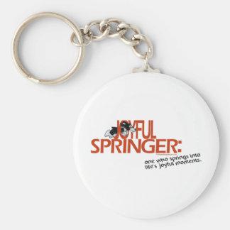 Joyful Springer Defined Keychains