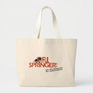 Joyful Springer Defined Large Tote Bag