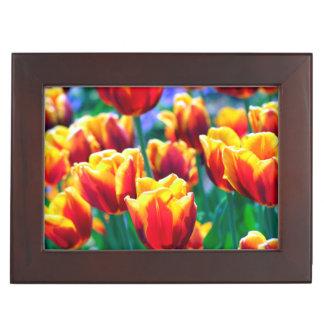 Joyful Summer's Flame coloured Tulips Keepsake Box