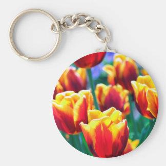 Joyful Summer's Flame coloured Tulips Keychain