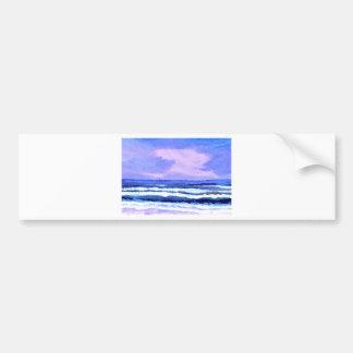 Joyful Sunrise Purple Lilac Ocean Waves Gifts Bumper Sticker