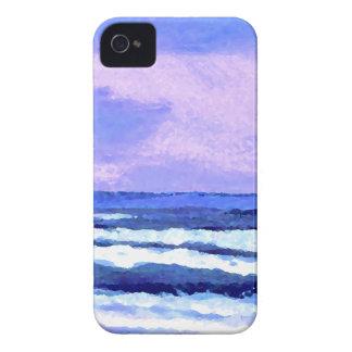 Joyful Sunrise Purple Lilac Ocean Waves Gifts iPhone 4 Case-Mate Cases