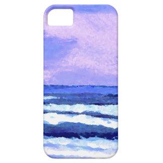 Joyful Sunrise Purple Lilac Ocean Waves Gifts iPhone 5 Cases