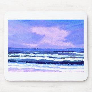 Joyful Sunrise Purple Lilac Ocean Waves Gifts Mouse Pad