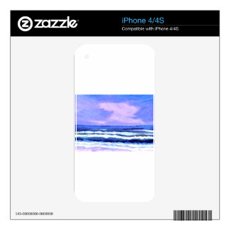 Joyful Sunrise Purple Lilac Ocean Waves Gifts Skins For iPhone 4