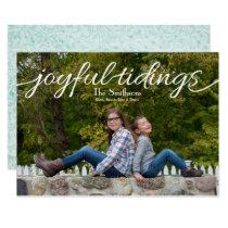 Joyful tidings Mod Holiday Photo Cards