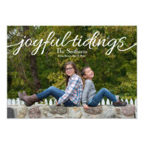 Joyful tidings Mod Holiday Photo Cards