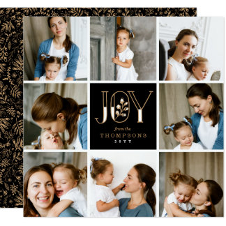 Joyful Tiles 8 Photo Holiday Card