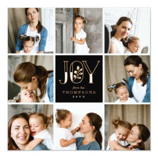 Joyful Tiles 8 Photo Holiday Invitation