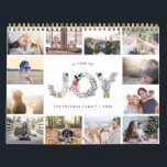 "Joyful Type | 2019 Photo Calendar<br><div class=""desc"">Share a favorite memory on each page of this 2019 photo calendar. Cover features a thumbnail version of each photo with &quot;a year of joy&quot; in the center in festive letters formed from holiday botanicals. Personalize the cover with your name(s) or family name and the year.</div>"