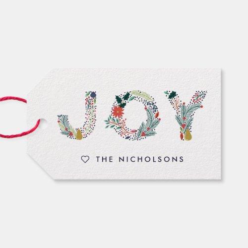 Joyful Type Holiday Gift Tags