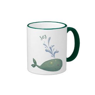 Joyful Whale Ringer Mug
