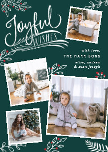 joyful wish christmas photo collage card - Christmas Photo Collage