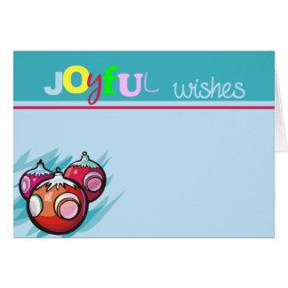 Joyful Wishes Christmas Ornaments Greeting Card
