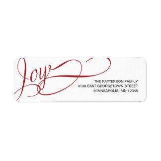 Joyful Wishes Holiday Address Label