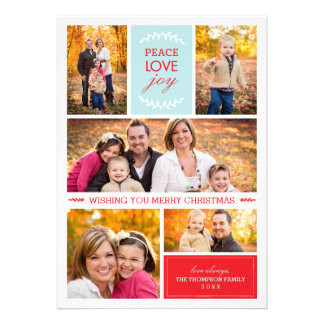 Joyful Wishes Photo Holiday Card Announcements