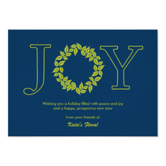 Joyful Wreath Business Holiday/Christmas Cards