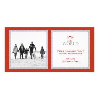 Joyful Wreath Christmas/Holiday Photo Card