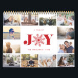 "Joyful Year | 2019 Photo Calendar<br><div class=""desc"">Share a favorite memory on each page of this 2019 photo calendar. Cover features a thumbnail version of each photo with &quot;a year of joy&quot; in the center in festive red lettering. A red snowflake takes the place of the &quot;O&quot; for extra holiday cheer. Personalize the cover with your name(s)...</div>"